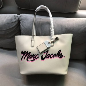 Marc Jacobs/MJ new printed cross grain leather shopping bag