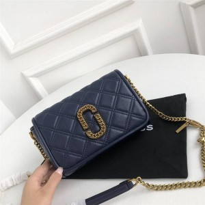 Marc Jacobs MJ The Round Crossbody Diamond Camera Bag Dark Blue