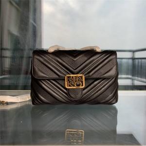 pinko CHEVRON quilted leather classic LOGO PUFF handbag