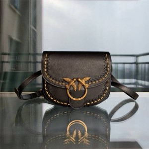 pinko small rivet GO-ROUND SOFT handbag saddle bag