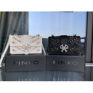 Pinko new bag LOGO chain decoration diagonal shoulder bag