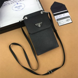 prada official website new Saffiano leather phone bag 2ZH068