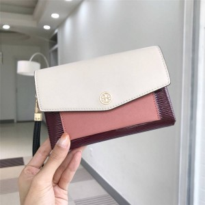 tory burch TB ROBINSON leather color block clutch
