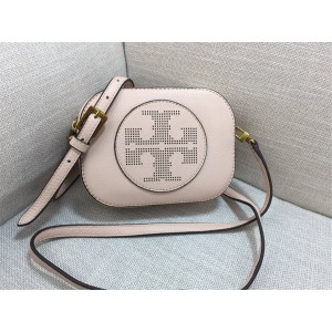 tory burch TB new perforated hollow LOGO camera bag