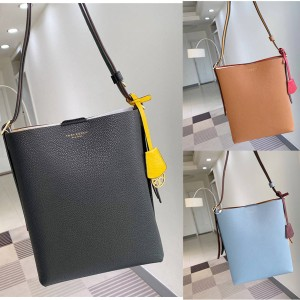 tory burch TB colorblock leather PERRY bucket bag