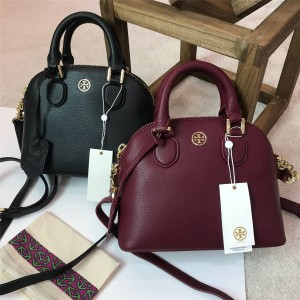 tory burch TB official website classic pebbled leather shell bag