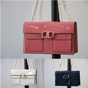 tory burch TB official website new patent leather Gemini chain bag