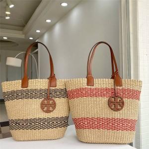tory burch TB new vegetable basket straw bag tote bag