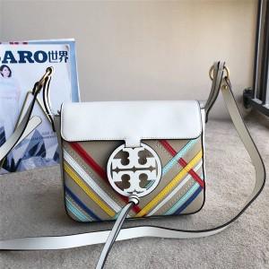 tory burch official website TB new MILLER striped crossbody bag