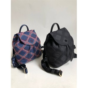 tory burch TB FLAME QUIL MINI nylon embroidered diamond backpack