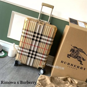 Rimowa trolley case Burberry aluminum-magnesium alloy boarding consignment box 20/22/26 inch