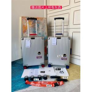 Rimowa FENDI joint aluminum-magnesium alloy boarding case luggage suitcase