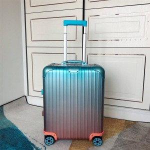 RIMOWA x Alex Israel collaboration gradient color suitcase trolley case