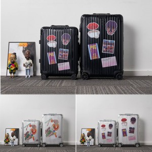 RIMOWA printed Shanghai city series trolley case suitcase luggage