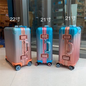 RIMOWA x Alex Israel official website gradient color trolley case cabin