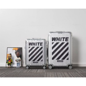 RIMOWA x OFF WHITE aluminum-magnesium alloy trolley case cabin