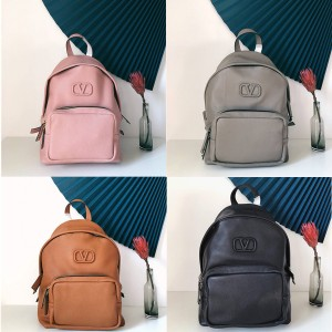 VALENTINO new LOGO men's and women's leather backpack