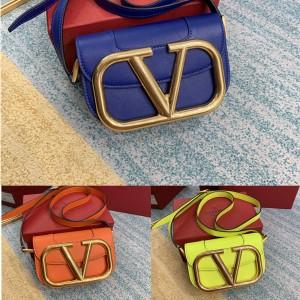 Valentino new SuperVee small calfskin organ crossbody bag