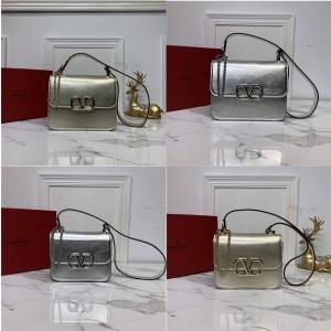 Valentino new gold and silver VSLING calfskin shoulder bag