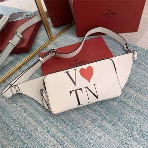 VALENTINO Valentine's Day limited edition printed VLTN waist bag chest bag