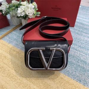 Valentino new pleated leather SuperVee organ crossbody bag