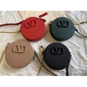 Valentino new bag LOGO round cake crossbody bag