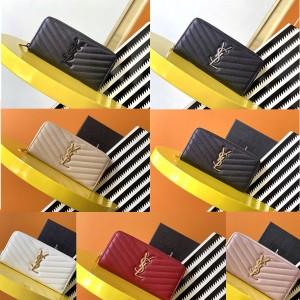 Saint Laurent YSL MONOGRAM cowhide zipper wallet 358094