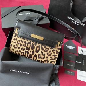 YSL Saint Laurent leopard print MANHATTAN baguette bag 579271