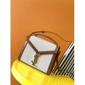 Saint Laurent YSL CASSANDRA mini canvas and smooth leather handbag 623930