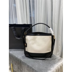 ysl Saint Laurent TAG canvas with leather HOBO bag 634786