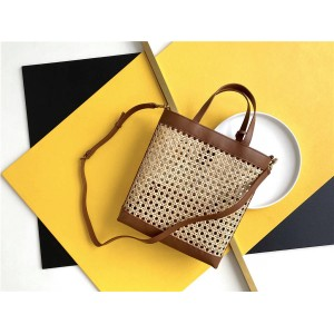 ysl SAINT LAURENT TOY vertical woven and leather shopping bag 655161