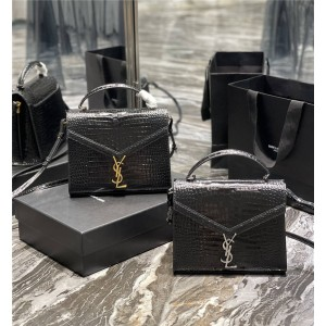 ysl Saint Laurent crocodile pattern CASSANDRA medium handbag 578000
