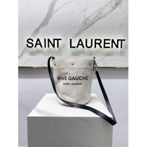 ysl Saint Laurent RIVE GAUCHE linen bucket bag 669299