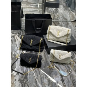 ysl Saint Laurent LOULOU PUFFER Quilted Woolen Shoulder Bag 620333/577476
