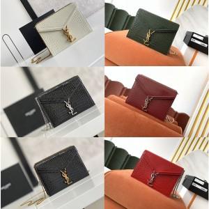 YSL Saint Laurent CASSANDRA Crocodile Pattern Leather Buckle Bag 532750