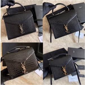 YSL Saint Laurent crocodile pattern CASSANDRA handbag 623930/578000