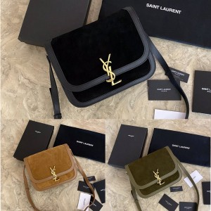 Saint Laurent YSL SOLFERINO suede medium shoulder bag 635025