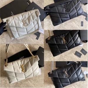 Saint Laurent YSL LOULOU PUFFER Medium Quilted Lambskin Bag 577475