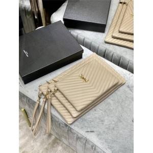 YSL Saint Laurent MONOGRAM quilted leather clutch 440222/379039/559193