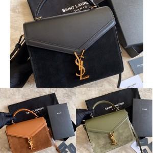 ysl Saint Laurent suede CASSANDRA medium handbag 578000/532752