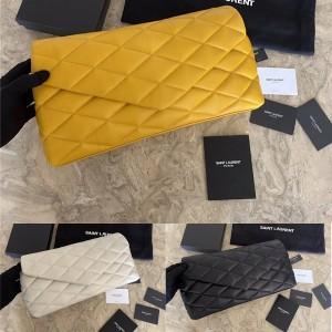 ysl Saint Laurent SADE lambskin inflatable envelope clutch 655004