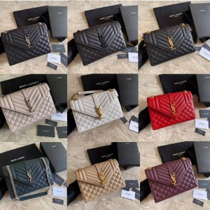 ysl Saint Laurent ENVELOPPE medium grain leather messenger bag 487206/392739