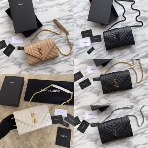 ysl Saint Laurent ENVELOPPE small grain embossed leather bag 526286/392745