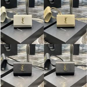 Saint Laurent YSL KATE black leather belt bag 534395