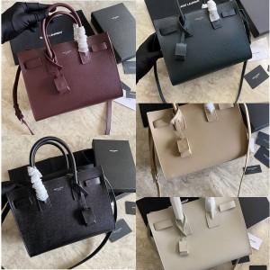 ysl Saint Laurent SAC DE JOUR grained leather organ bag 398710