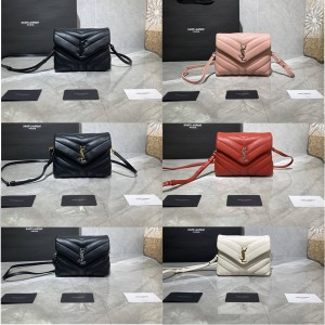 ysl Saint Laurent small leather shoulder bag LOULOU, Y sewing bag 467072