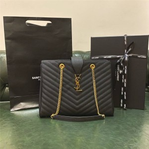 ysl Saint Laurent classic caviar leather shopping bag 396911