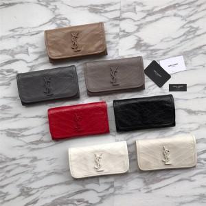 ysl Saint Laurent NIKI large vintage wrinkled leather clutch 583552