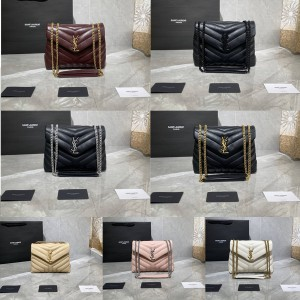 ysl Saint Laurent LOULOU small Y-shaped quilted leather bag 494699