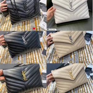 YSL Saint Laurent Large LouLou Y-shaped Crossbody Bag 459749